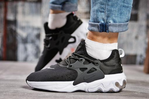 Кроссовки женские Nike React, черные (15445) размеры в наличии ►