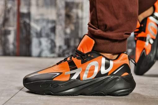 Кроссовки мужские Adidas Yeezy 700, оранжевые (15523) размеры в наличии ►