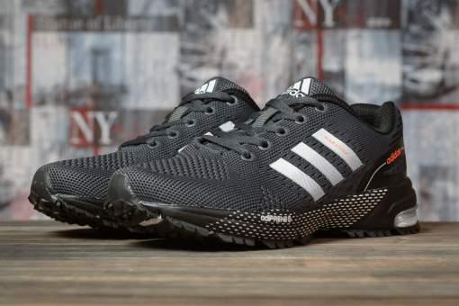 Кроссовки женские 16919, Adidas Marathon Tn, темно-серые