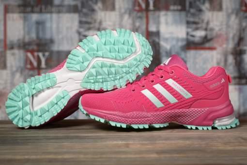 Кроссовки женские 17001, Adidas Marathon Tn, малиновые