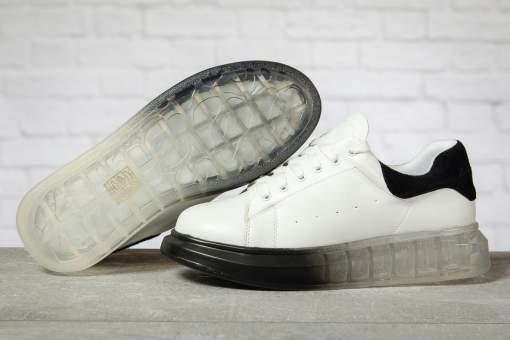 Кроссовки женские 17161, MkQueen, белые
