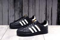 Кроссовки женские 17822, Adidas Superstar, черные
