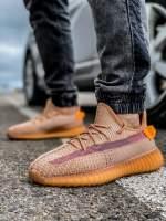 Кроссовки мужские 18412 Adidas Yeeze Boost 350 коричневые