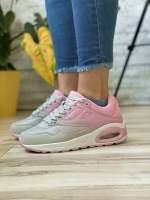 Кроссовки женские 18761 Airmax серые розовые