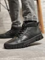 Зимние мужские ботинки 31941 SSS Shoes черные