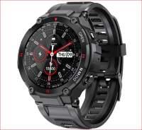 Смарт-часы K22 черные мужские спортивные часы с Bluetooth вызовом фитнес трекер